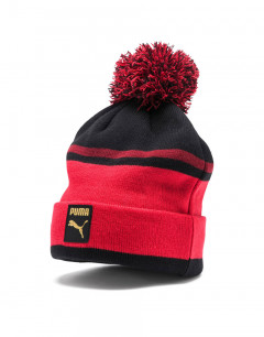 PUMA Check Pom Pom Beanie Red
