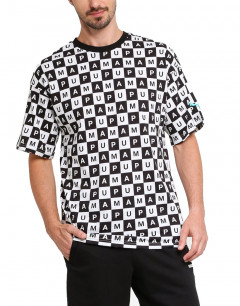 PUMA Checkboard AOP Tee Black