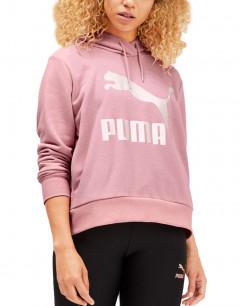 PUMA Classics Logo Hoodie Pink