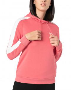 PUMA Contrast Hoodie Pink
