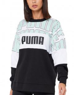 PUMA Crew AOP Sweatshirt Black/White