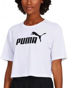 PUMA Cropped Logo Tee White