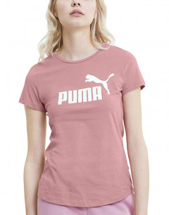 PUMA ESS Logo Tee Pink