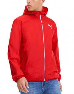 PUMA Essential Solid Windbreaker Jacket Red