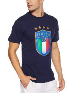 PUMA FIGC Italia Badge Tee Blue