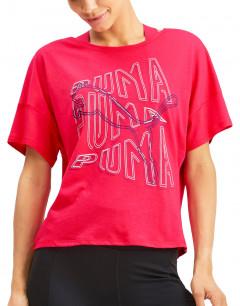PUMA Hit Feel It Graphic Tee Pink