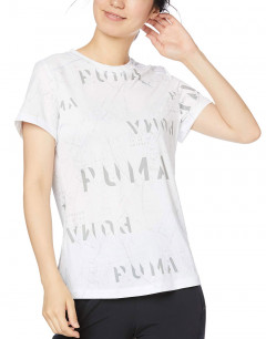 PUMA Last Lap Graphic Tee White