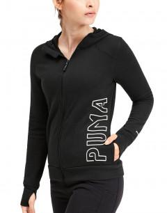 PUMA Logo Sweat Jacket Black