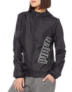 PUMA Mesh Lined Woven Jacket Dark Grey