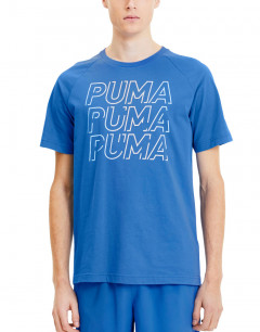 PUMA Modern Sports Logo Tee Blue