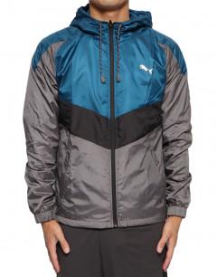 PUMA Reactive Tricot Linen Woven Jacket Grey/Blue