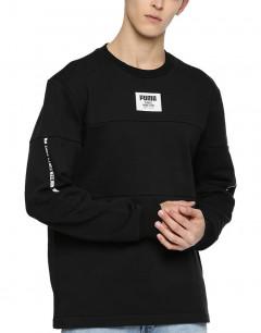 PUMA Rebel Block Crew Sweatshirt Black