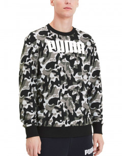 PUMA Rebel Camo Crew Black