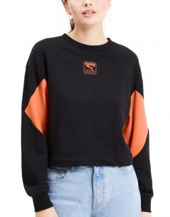 PUMA Rebel Crew Sweatshirt Black