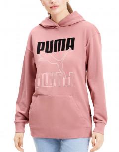 PUMA Rebel Elongated Hoodie Pink