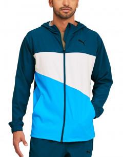 PUMA Train Vent Woven Jacket Blue