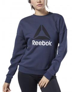REEBOK Big Logo Cover Up Blouse Navy