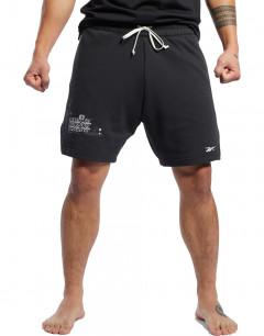 REEBOK Combat French Terry Boxing Shorts Black