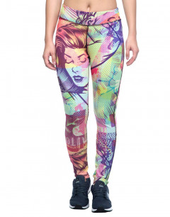 REEBOK Comic Clash Speedwick Leggings Multicolor