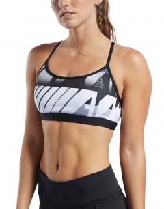 REEBOK CrossFit Medium Impact Skinny Bra Grey