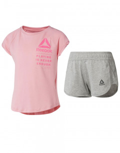 REEBOK Girls Logo Set Pink/Grey