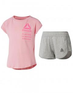 REEBOK Girls Logo Set Pink/Grey