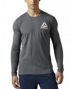 REEBOK Graphic Americana Long Sleeve Tee Shirt Grey