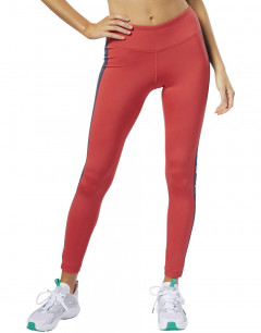 REEBOK Linear Logo Leggings Red