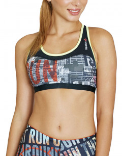 REEBOK One Series Running Short Bra Black
