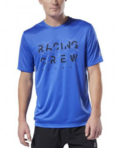 REEBOK Run Essentials Crew T-Shirt Blue
