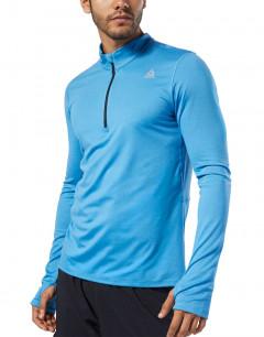 REEBOK Run Essentials Quarter Zip Blouse Blue