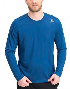 REEBOK Running Long Sleeve Training Shirt Blue