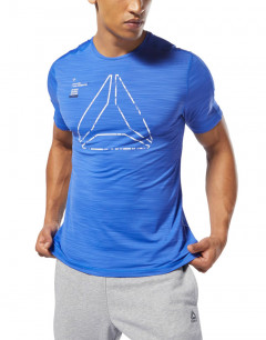 REEBOK Training Active Chill Graphic Tee Blue