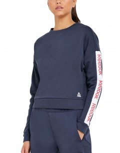 REEBOK Training Ess Logo Crew Sweatshirt Navy