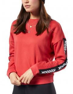 REEBOK Training Ess Logo Crew Sweatshirt Red