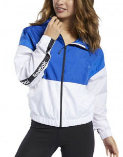 REEBOK Training Essentials Linear Logo Jacket White/Blue