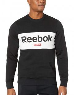 REEBOK Training Essentials Linear Logo Sweatshirt Black