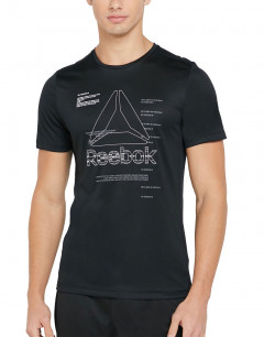 REEBOK Workout Ready Graphic Tee Black