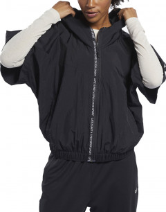 REEBOK Woven Short Sleeve Jacket Black