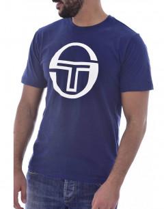 SERGIO TACCHINI Stadium Big Logo Tee Blue