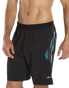 """SPEEDO Glide Hybrid 18"""" Swim Shorts Black/Grey"""