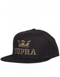 SUPRA Above Snapback Hat Black/Dark Olive