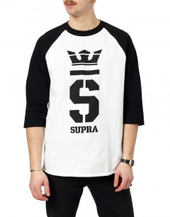 SUPRA Champ 3/4 Sleeve Blouse White