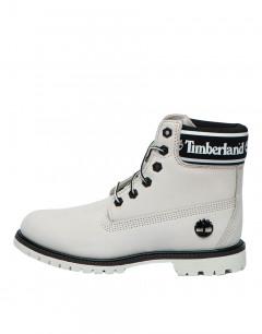 TIMBERLAND 6 Inch Logo Collar Waterproof Boot White