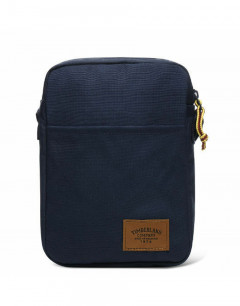 TIMBERLAND Mini Body Bag Canvas Shoulder Navy