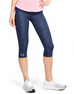 UNDER ARMOUR Fly Fast Printed Capri Leggings Navy