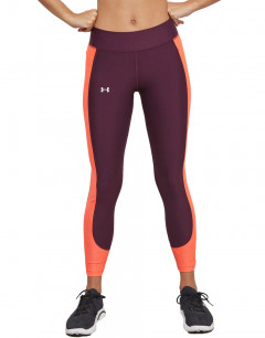 UNDER ARMOUR HeatGear Ankle Crop Leggings Maroon