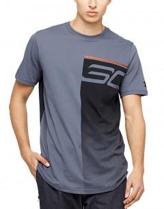 UNDER ARMOUR SC30 Logo Fade Away Tee Grey