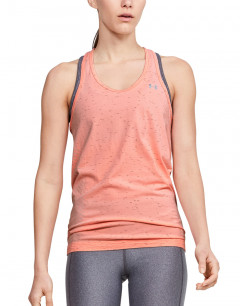UNDER ARMOUR Seamless Melange Tank Coral