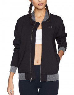 UNDER ARMOUR Threadborne Fleece Bomber Black